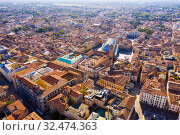 Купить «Aerial view of Padua cityscape with buildings and streets», фото № 32474363, снято 5 сентября 2019 г. (c) Яков Филимонов / Фотобанк Лори