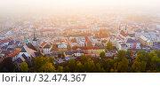 Купить «Aerial view of Jihlava, Czech Republic», фото № 32474367, снято 14 октября 2019 г. (c) Яков Филимонов / Фотобанк Лори