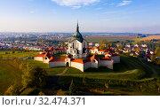 Купить «Church of Saint John of Nepomuk, aerial view», фото № 32474371, снято 15 октября 2019 г. (c) Яков Филимонов / Фотобанк Лори
