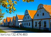 Bohemian village of Holasovice, Czech Republic. Стоковое фото, фотограф Яков Филимонов / Фотобанк Лори