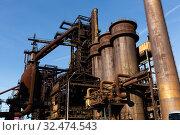 Купить «Closed metallurgical plant in Vitkovice (Ostrava). Czech Republic», фото № 32474543, снято 22 января 2020 г. (c) Яков Филимонов / Фотобанк Лори