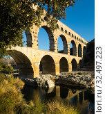 Pont du Gard, France (2017 год). Стоковое фото, фотограф Яков Филимонов / Фотобанк Лори