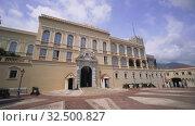 Купить «Prince's Palace of Monaco - Monte Carlo buildings in Europe», видеоролик № 32500827, снято 28 августа 2019 г. (c) Aleksejs Bergmanis / Фотобанк Лори