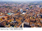 Купить «Aerial view of Padua cityscape with buildings and streets», фото № 32509679, снято 5 сентября 2019 г. (c) Яков Филимонов / Фотобанк Лори