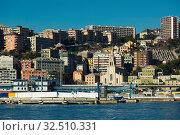 Купить «View on Old Port of Genoa in Italy», фото № 32510331, снято 4 декабря 2017 г. (c) Яков Филимонов / Фотобанк Лори