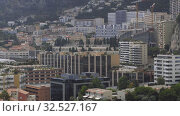 Купить «Monaco city summer living Houses, Block of Flats buildings, streets, roads with cars in Monte Carlo», видеоролик № 32527167, снято 28 августа 2019 г. (c) Aleksejs Bergmanis / Фотобанк Лори