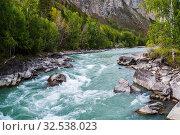 Купить «Behemoth River Rapid on the Chuya River, Mountain Altai, Russia», фото № 32538023, снято 13 сентября 2019 г. (c) Вадим Орлов / Фотобанк Лори