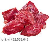 Купить «Raw veal prepared for stew cooking», фото № 32538643, снято 18 января 2020 г. (c) Яков Филимонов / Фотобанк Лори