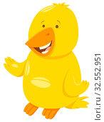 Cartoon Illustration of Canary Bird Funny Animal Character. Стоковое фото, фотограф Zoonar.com/Igor Zakowski / easy Fotostock / Фотобанк Лори