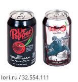 Купить «Dr Pepper Cherry Spider-Man Edition», фото № 32554111, снято 30 ноября 2019 г. (c) Art Konovalov / Фотобанк Лори