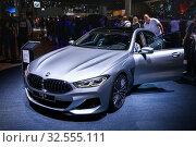 Купить «BMW M850i Gran Coupe», фото № 32555111, снято 18 сентября 2019 г. (c) Art Konovalov / Фотобанк Лори