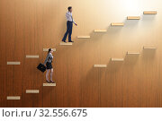 Gender discrimination concept with promotions. Стоковое фото, фотограф Elnur / Фотобанк Лори