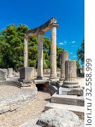 Archaeological Site of Olympia, UNESCO World Heritage Site, an ancient site on Greece's Peloponnese peninsula, Greece, Europe. Стоковое фото, фотограф Sakis Papadopoulos / age Fotostock / Фотобанк Лори