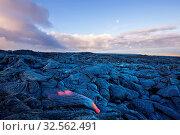 Купить «Lava flow on Big Island, Hawaii», фото № 32562491, снято 11 июля 2020 г. (c) easy Fotostock / Фотобанк Лори