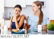 Emotional quarrel between two women. Стоковое фото, фотограф Яков Филимонов / Фотобанк Лори