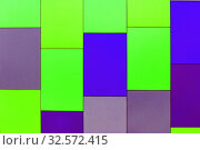 Купить «Wall from multi-colored panels background.», фото № 32572415, снято 9 марта 2017 г. (c) Акиньшин Владимир / Фотобанк Лори