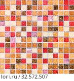 Купить «Mosaic tiles on the facade of the house.», фото № 32572507, снято 23 июня 2017 г. (c) Акиньшин Владимир / Фотобанк Лори
