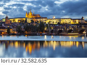 Купить «Evening at Hradcany in Prague, Czechia.», фото № 32582635, снято 25 сентября 2019 г. (c) age Fotostock / Фотобанк Лори