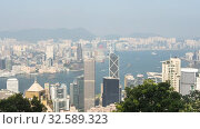 Купить «Hong Kong city view from the peak, timelapse», видеоролик № 32589323, снято 8 ноября 2019 г. (c) Игорь Жоров / Фотобанк Лори