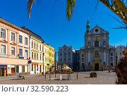 Купить «Church of St. Adalbert in Opava, Czech Republic», фото № 32590223, снято 10 декабря 2019 г. (c) Яков Филимонов / Фотобанк Лори
