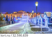 Новогодняя горка. Москва (2016 год). Редакционное фото, фотограф Baturina Yuliya / Фотобанк Лори