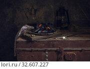 Mussels on a metal tray close-up. Стоковое фото, фотограф Татьяна Ляпи / Фотобанк Лори