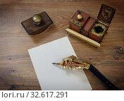 Купить «Preparing to write a letter», фото № 32617291, снято 21 апреля 2019 г. (c) Валерий Александрович / Фотобанк Лори