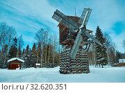 Russian Traditional wooden mill, Malye Karely village, Arkhangelsk region, Russia. Стоковое фото, фотограф Zoonar.com/MYCHKO / easy Fotostock / Фотобанк Лори