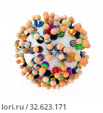Купить «Crowd of small symbolic 3d figures, isolated», фото № 32623171, снято 28 мая 2020 г. (c) easy Fotostock / Фотобанк Лори