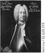 Johan Henrik Scheffel, Johan Gabriel Lagerhjelm, 1677-1741, painting, 1730, Oil on canvas, Height, 80 cm (31.4 inches), Width, 65 cm (25.5 inches), Signed, JH, Scheffer p (2019 год). Редакционное фото, фотограф ARTOKOLORO QUINT LOX LIMITED / age Fotostock / Фотобанк Лори