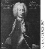 Johan Henrik Scheffel, Johan Jacob Hammarfelt, 1692-1757, painting, 1728, Oil on canvas, Height, 80 cm (31.4 inches), Width, 65 cm (25.5 inches), Signed, JH Scheffel p (2019 год). Редакционное фото, фотограф ARTOKOLORO QUINT LOX LIMITED / age Fotostock / Фотобанк Лори
