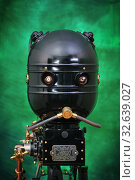 Голова ретро-футуристического  робота. Стоковое фото, фотограф Валерий Александрович / Фотобанк Лори