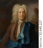 Johan Henrik Scheffel, Jonas Alströmer, 1685-1761, painting, portrait, Oil, Height, 82 cm (32.2 inches), Width, 68 cm (26.7 inches) (2019 год). Редакционное фото, фотограф ARTOKOLORO QUINT LOX LIMITED / age Fotostock / Фотобанк Лори