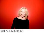 FRANKFURT AM MAIN, Germany - October 10 2018: Maren Kroymann at 70th Frankfurt Book Fair / Buchmesse Frankfurt. Стоковое фото, фотограф Zoonar.com/Markus Wissmann / age Fotostock / Фотобанк Лори