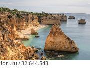 Praia da Marinha, Lagoa, Algarve, Portugal, Europe. Стоковое фото, фотограф Joana Kruse / age Fotostock / Фотобанк Лори