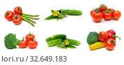 Ripe vegetables on a white background. Стоковое фото, фотограф Ласточкин Евгений / Фотобанк Лори