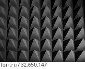 Купить «Abstract dark gray regular digital structure background», иллюстрация № 32650147 (c) EugeneSergeev / Фотобанк Лори