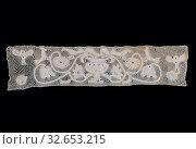 Insertion, 1725/1775, Probably Hungary, Hungary, Linen, bobbin part lace, 16.7 x 65 8 cm (6 5/8 x 25 7/8 in.) Редакционное фото, фотограф ARTOKOLORO QUINT LOX LIMITED / age Fotostock / Фотобанк Лори