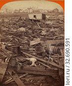 Купить «The Johnstown Calamity. General View of the Wrecked City., George Barker (American, 1844 - 1894), 1889, Albumen silver print», фото № 32690591, снято 17 июня 2019 г. (c) age Fotostock / Фотобанк Лори