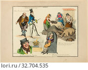Plate from Illustrations to Popular Songs, 1822, Henry Alken (English, 1785-1851), published by Thomas McLean (English, active 1790-1860), England, Soft... Редакционное фото, фотограф ARTOKOLORO QUINT LOX LIMITED / age Fotostock / Фотобанк Лори