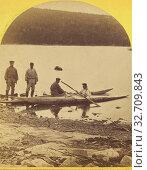 Купить «Rigolette. Esquimaux and their boats., H.N. Robinson (American, active 1870s), about 1870, Albumen silver print», фото № 32709843, снято 17 июня 2019 г. (c) age Fotostock / Фотобанк Лори