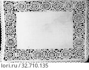 Купить «Pillow Cover, 19th century (revival lace), Italy, Linen, plain weave, needle lace work on a cut and drawn thread work grid, embroidered in double hem and...», фото № 32710135, снято 27 мая 2020 г. (c) age Fotostock / Фотобанк Лори