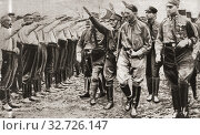 Купить «Adolf Hitler, seen here inspecting members of the Nazi organization, 1930. Adolf Hitler, 1889-1945. German politician and leader of the Nazi Party. From The Pageant of the Century, published 1934.», фото № 32726147, снято 28 января 2020 г. (c) age Fotostock / Фотобанк Лори