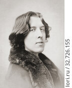 Купить «Oscar Wilde, 1854 - 1900. Irish poet and playwright. After a photogaph made in the early 1880's by American photographer Napoleon Sarony.», фото № 32726155, снято 7 июля 2019 г. (c) age Fotostock / Фотобанк Лори