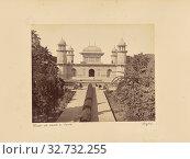 Itmad-ud-Daulah's Tomb. Agra, Unknown maker, Agra, India, 1887, Albumen silver print, 19.1 × 24 cm (7 1/2 × 9 7/16 in.) (2019 год). Редакционное фото, фотограф ARTOKOLORO QUINT LOX LIMITED / age Fotostock / Фотобанк Лори