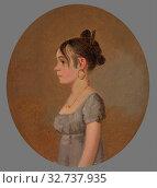 Miss Schaum, 1808/10, Jacob Eichholtz, American, 1776–1842, United States, Oil on panel, 22.9 × 17.8 cm (9 × 7 in.) (2019 год). Редакционное фото, фотограф ARTOKOLORO QUINT LOX LIMITED / age Fotostock / Фотобанк Лори