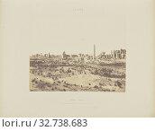 Karnak (Thèbes). Vue Générale des Ruines prise du nord-est, en V, Félix Teynard (French, 1817 - 1892), Egypt, negative 1851 - 1852, print 1853, Salted paper print, 24.1 × 30.2 cm (9 1/2 × 11 7/8 in.) (2019 год). Редакционное фото, фотограф ARTOKOLORO QUINT LOX LIMITED / age Fotostock / Фотобанк Лори