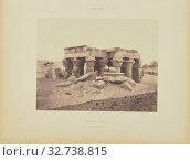Kôm-Ombou (Ombos). Vue Générale des Ruines, Félix Teynard (French, 1817 - 1892), Kom Ombo, Egypt, negative 1851 - 1852, print 1853, Salted paper print, 23.4 × 30.8 cm (9 3/16 × 12 1/8 in.) (2019 год). Редакционное фото, фотограф ARTOKOLORO QUINT LOX LIMITED / age Fotostock / Фотобанк Лори