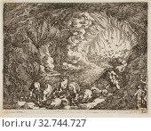 Купить «Apocalyptic Vision with Sea Gods, n.d., Johann Wilhelm Baur, German, 1607-1642, Germany, Etching on ivory laid paper, 105 x 140 mm (sheet, sheet trimmed almost to plate mark)», фото № 32744727, снято 17 сентября 2019 г. (c) age Fotostock / Фотобанк Лори