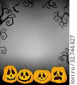 Купить «Halloween pumpkins thematics image 3 - picture illustration.», фото № 32744827, снято 6 июня 2020 г. (c) easy Fotostock / Фотобанк Лори